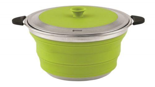 COLLAPS Topf mit Deckel 4,5l Lime Green